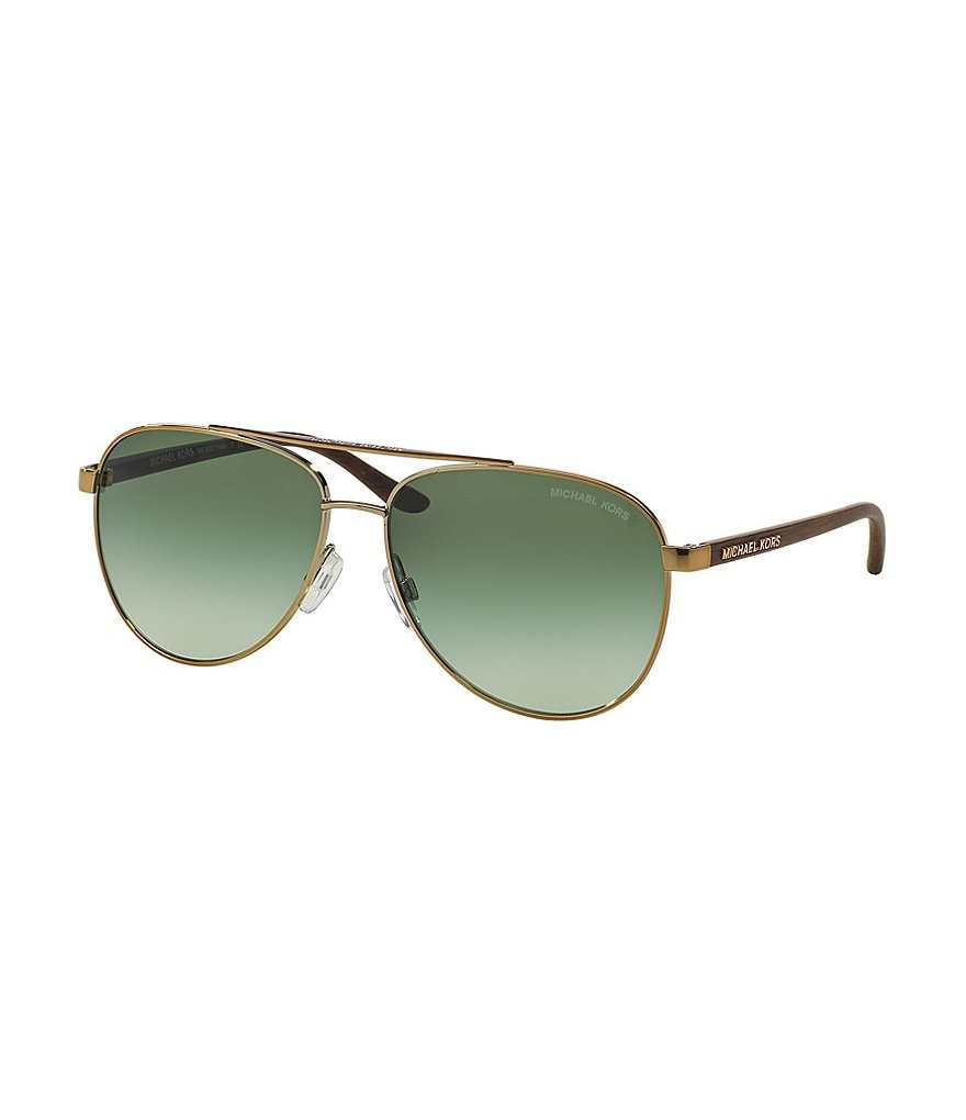 Michael Kors Slim Chic Double Bridge Aviator Sunglasses