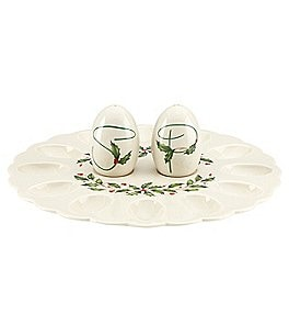Lenox Holiday Egg Platter with Salt and Pepper Image