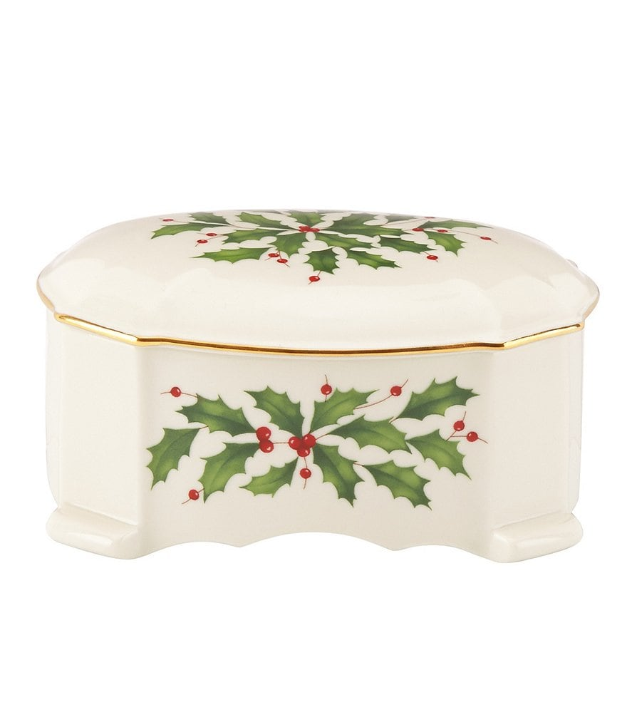 Lenox Holiday Musical Trinket Box