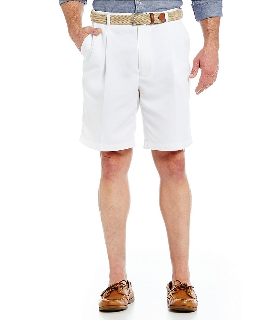 Roundtree & Yorke Non-Iron Pleated Microfiber Expander Shorts