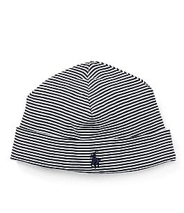 Ralph Lauren Childrenswear Baby Boys Striped Beanie Hat Image