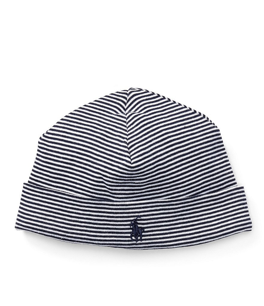 Ralph Lauren Childrenswear Baby Boys Striped Beanie Hat