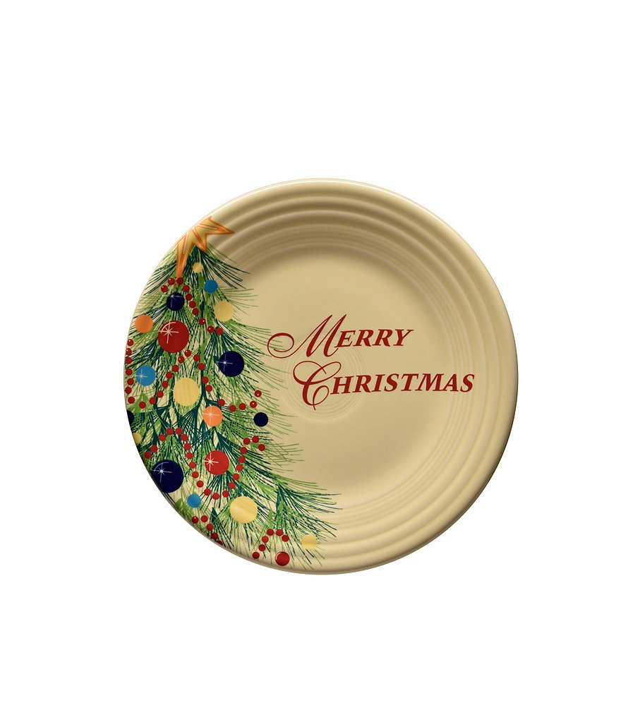 Fiesta Merry Christmas Luncheon Plate