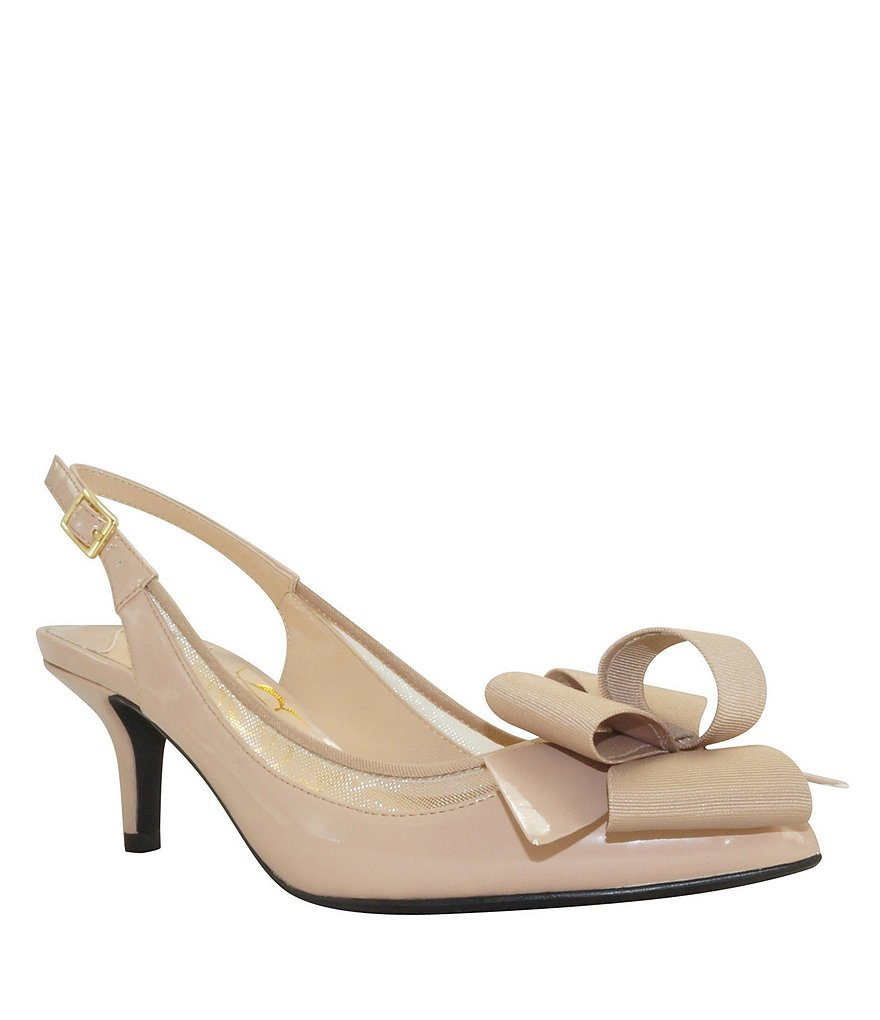 J. Renee Garbi Bow Pointed-Toe Slingback Pumps