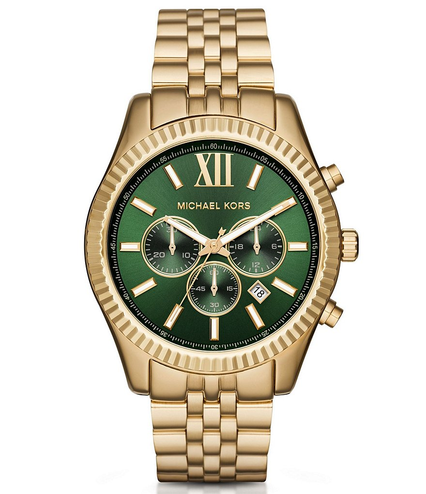 Michael Kors Men´s Lexington Olive Dial Chronograph Watch