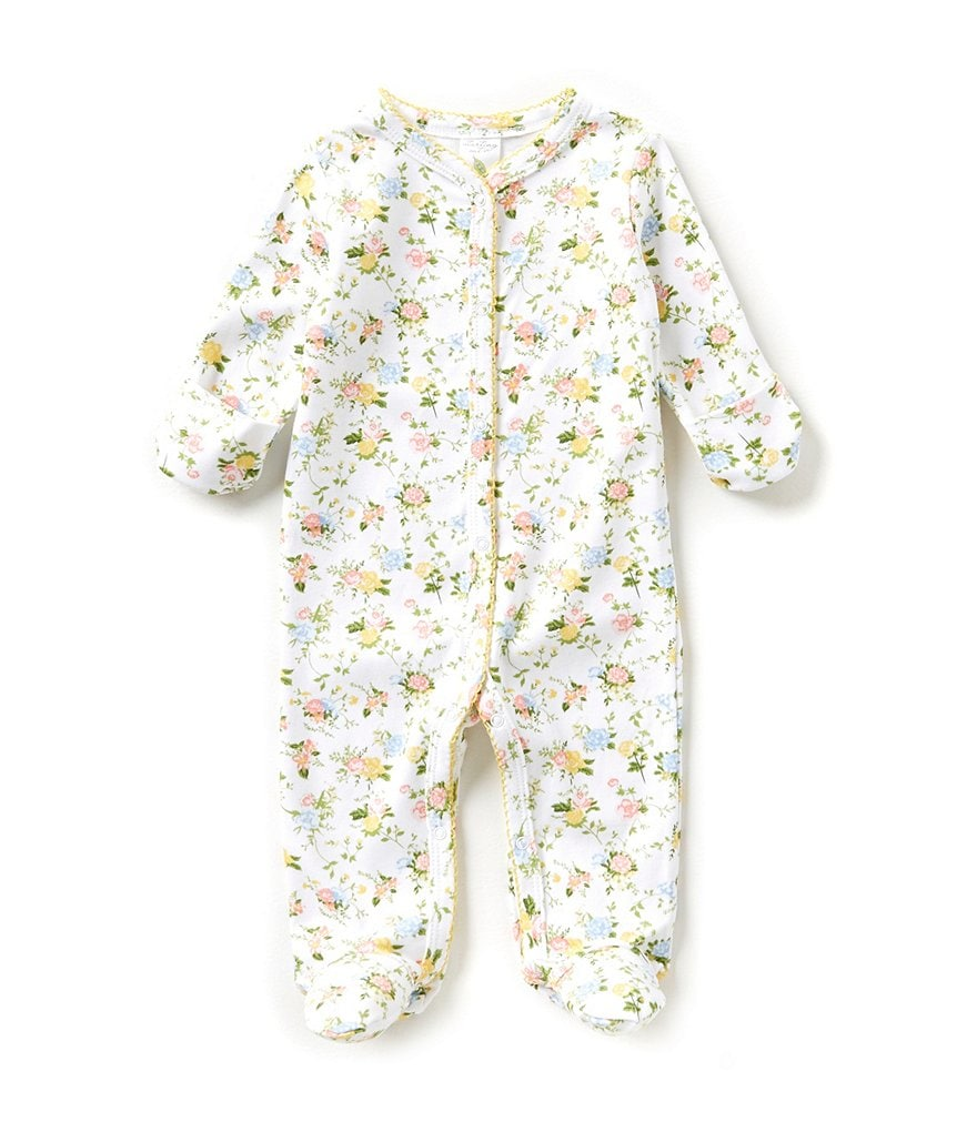 Starting Out Baby Girls Newborn-6 Months Floral Print Footed Coverall