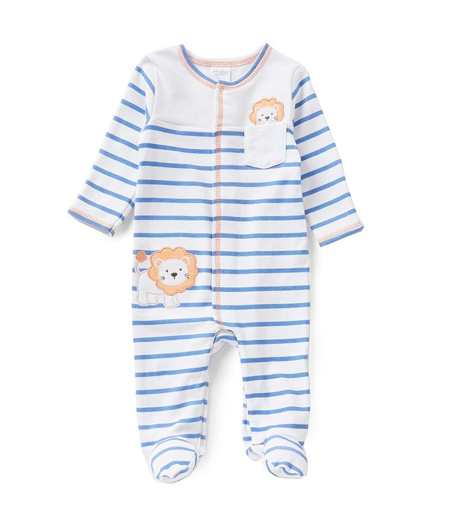 Starting Out Baby Boys Newborn-6 Months Lion-Appliqued Footed Coverall