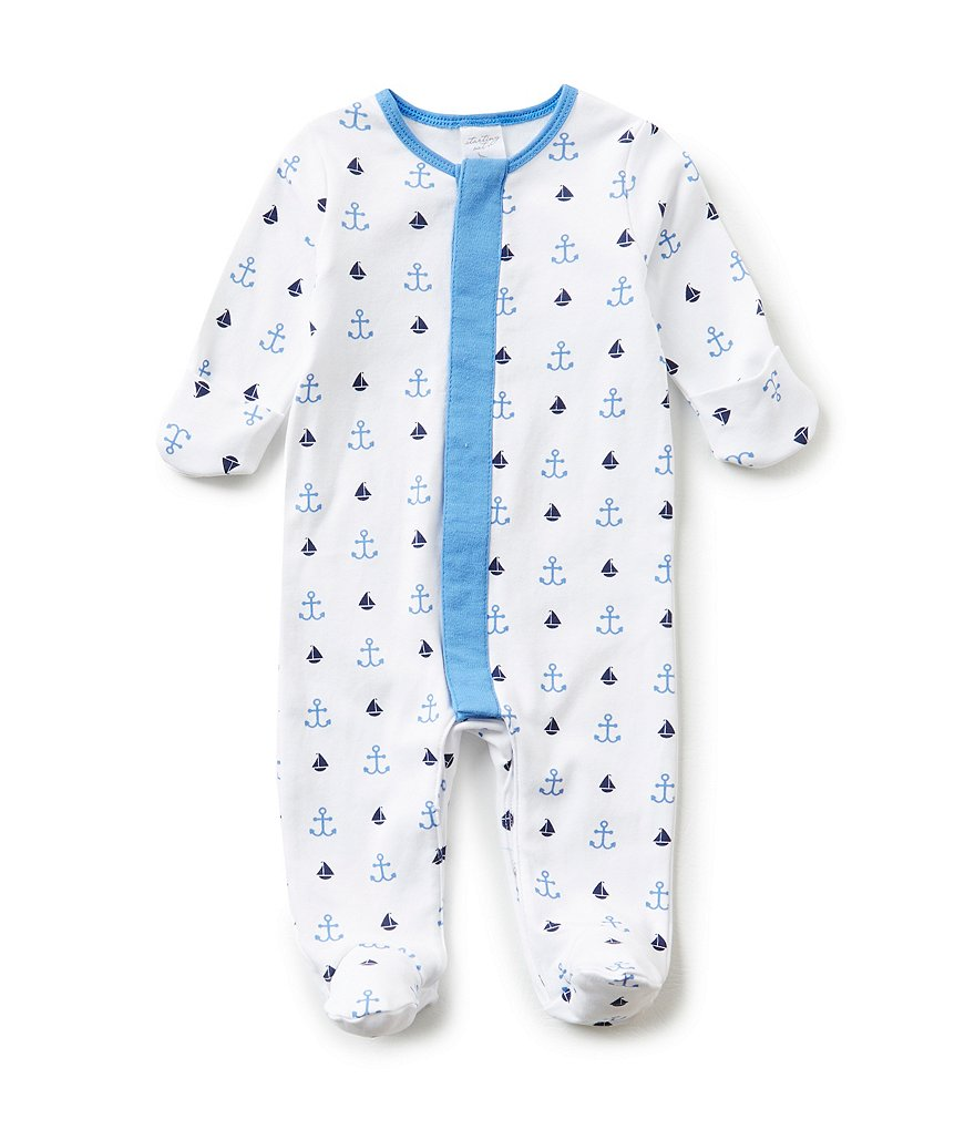 Starting Out Baby Boys Newborn-6 Months Nautical-Print Footed Coverall