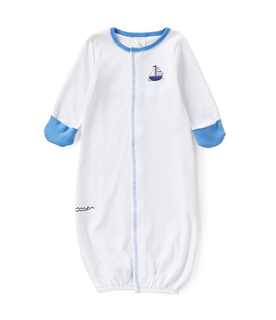 Starting Out Baby Boys Newborn-6 Months Sailboat-Appliqued Gown