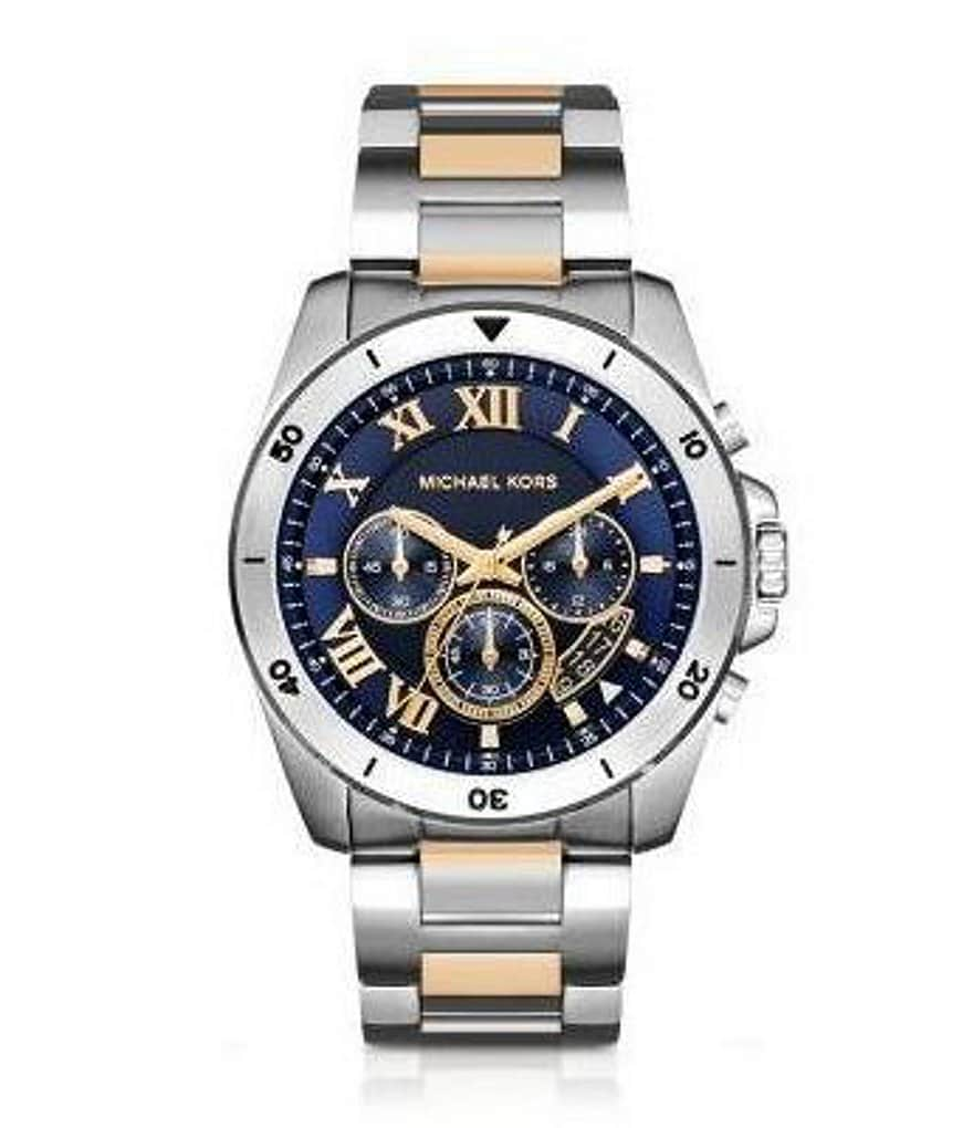 michael kors 180 s brecken two tone chronograph