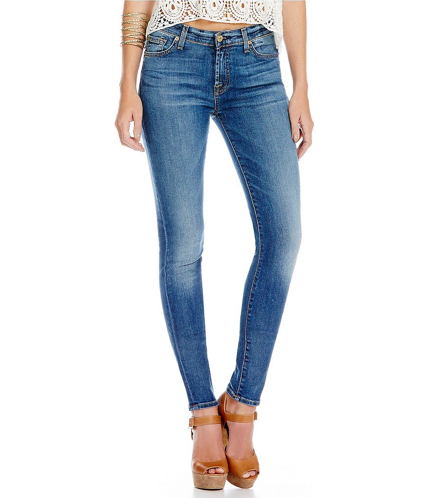 7 For All Mankind The Skinny with Squiggle Skinny Jeans