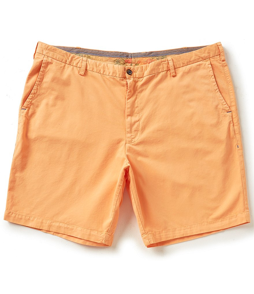 Tommy Bahama Big & Tall Flat-Front Island Chino Shorts