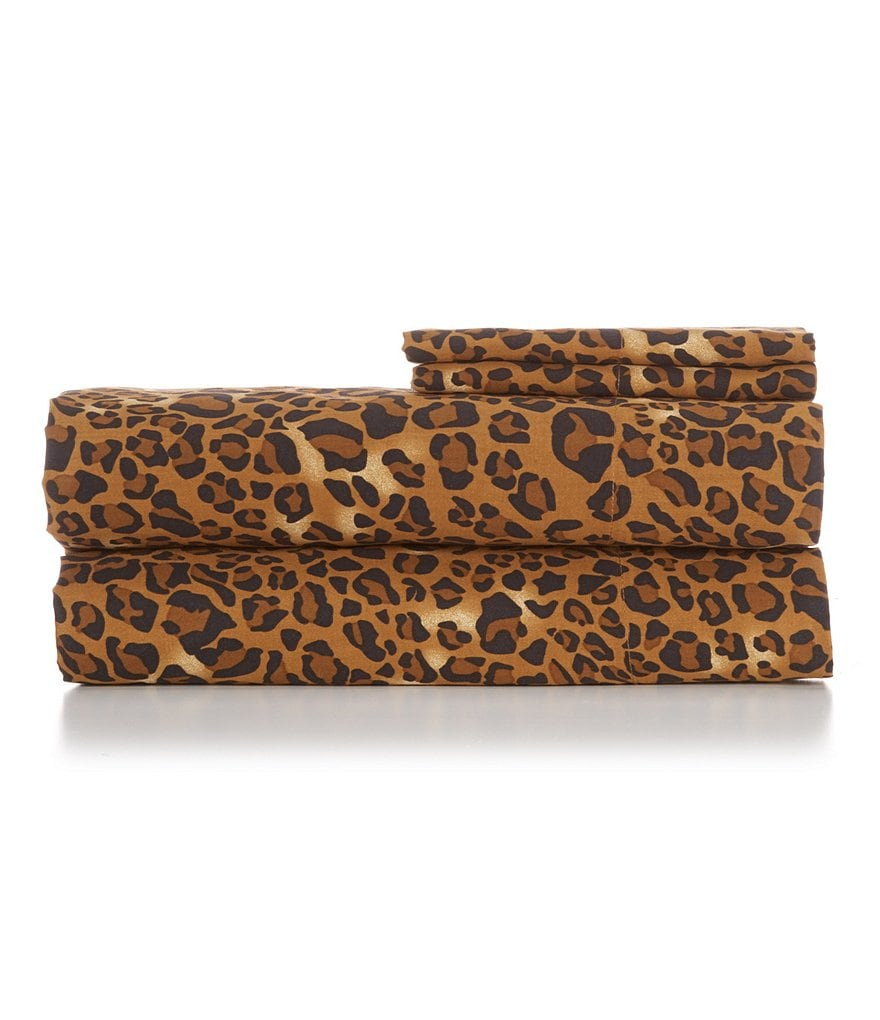 Noble Excellence Leopard 300-Thread-Count Cotton Sateen Sheet Set