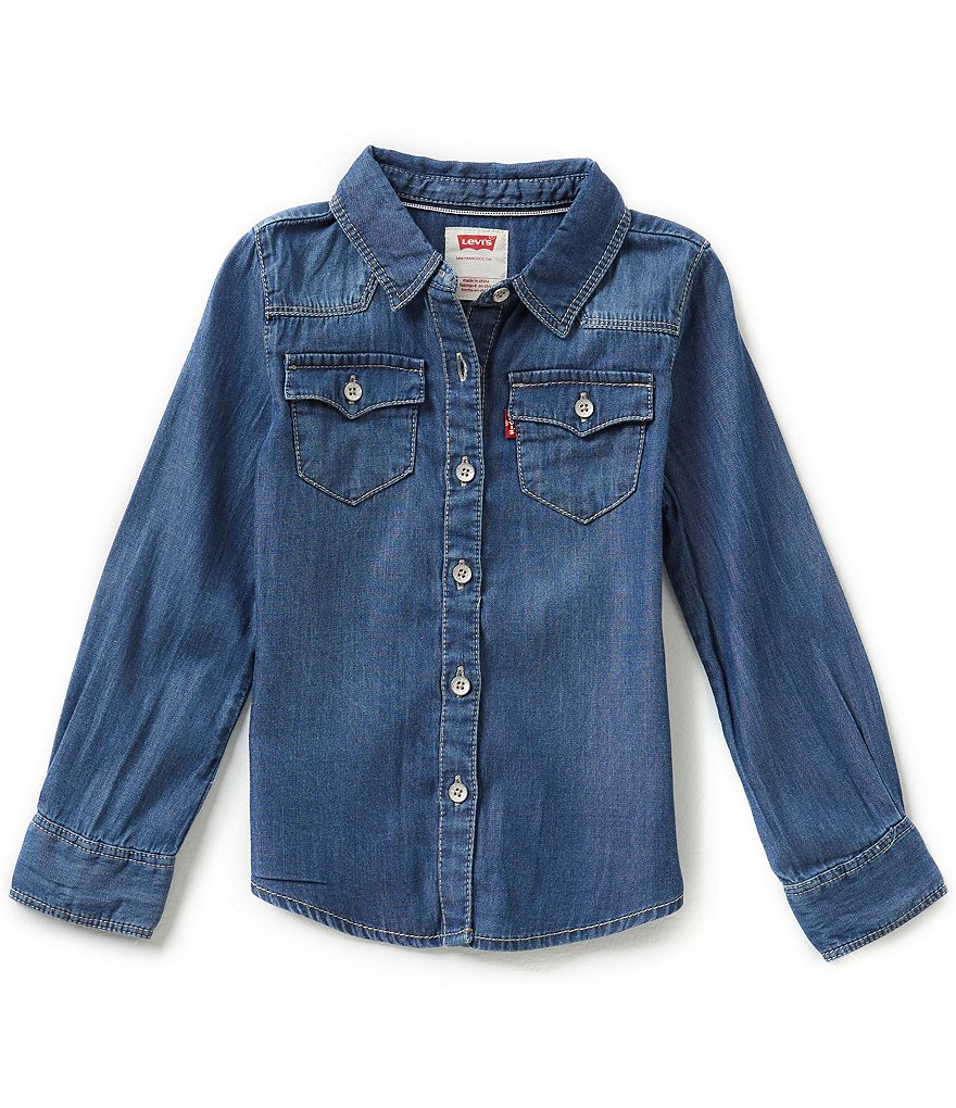Levi´s® 2T-6X The Western Long-Sleeve Denim Top