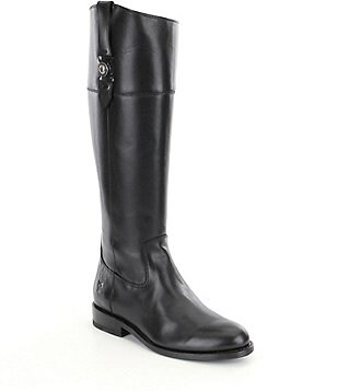 Frye Jayden Button Leather Full Zip Tall Riding Boots