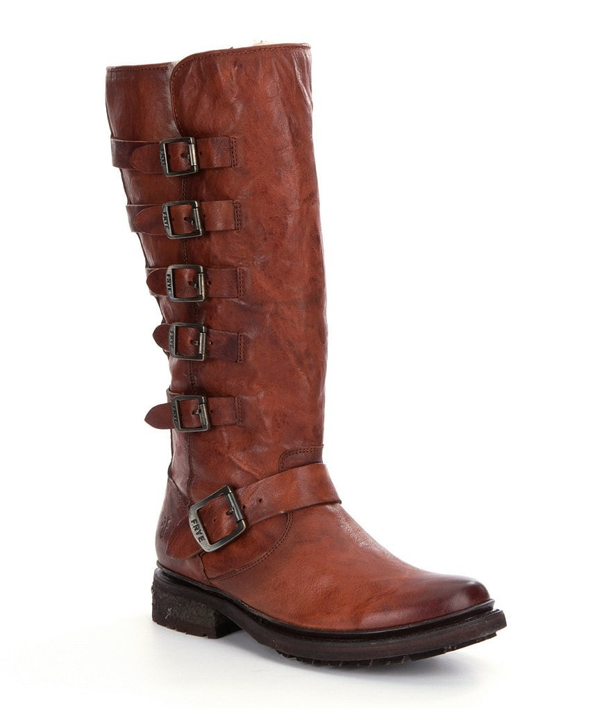 Frye Valerie Belted Tall Riding Boots