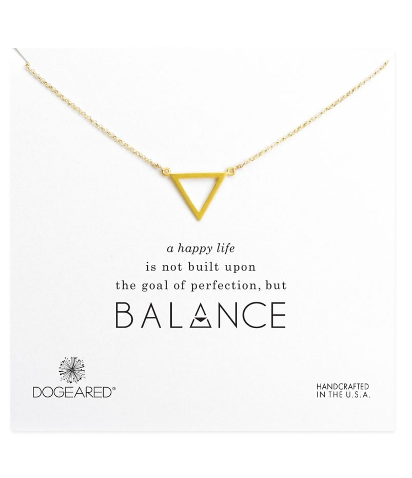 Dogeared Balance Open Triangle Necklace