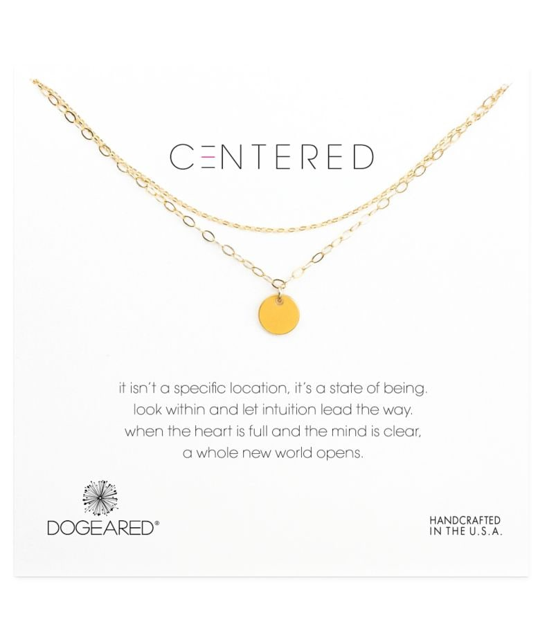 Dogeared Centered Medium Circle 2-Chain Necklace