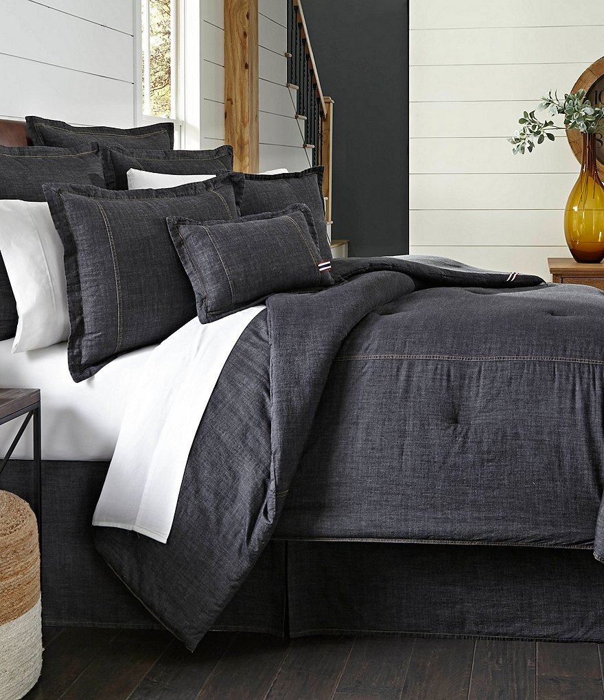 Cremieux Vintage Washed Denim Comforter