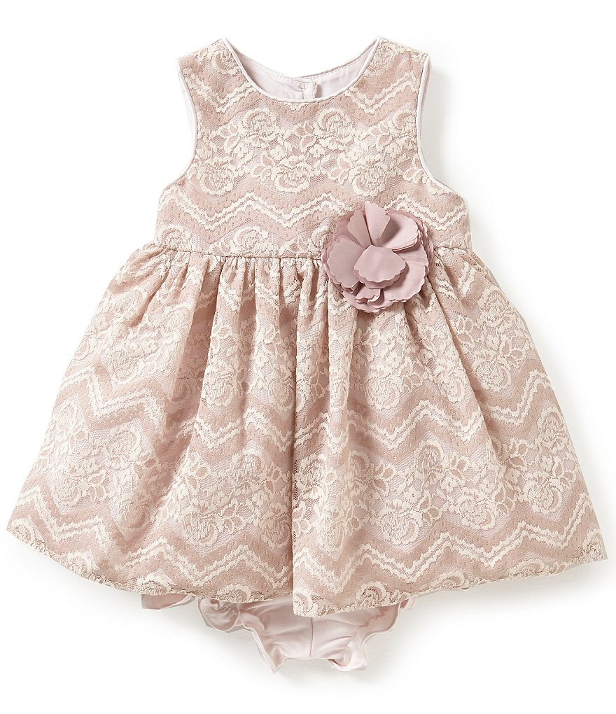Pippa & Julie Baby Girls 12-24 Months Floral Lace Dress