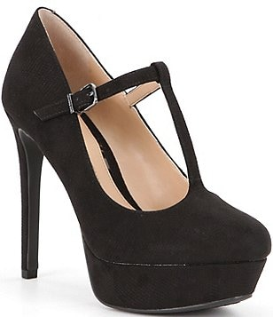 Gianni Bini Lorenna Fabric T-Strap Platform Mary Jane Pumps