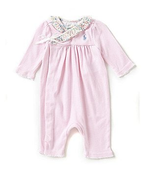 Ralph Lauren Childrenswear Baby Girls 3-12 Months Wrap Coveralls