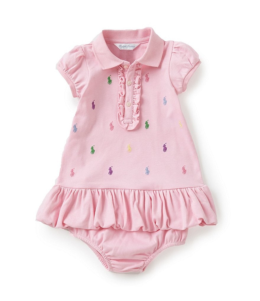 Ralph Lauren Childrenswear Baby Girls 3-24 Months Schiffli-Embroidered Dress