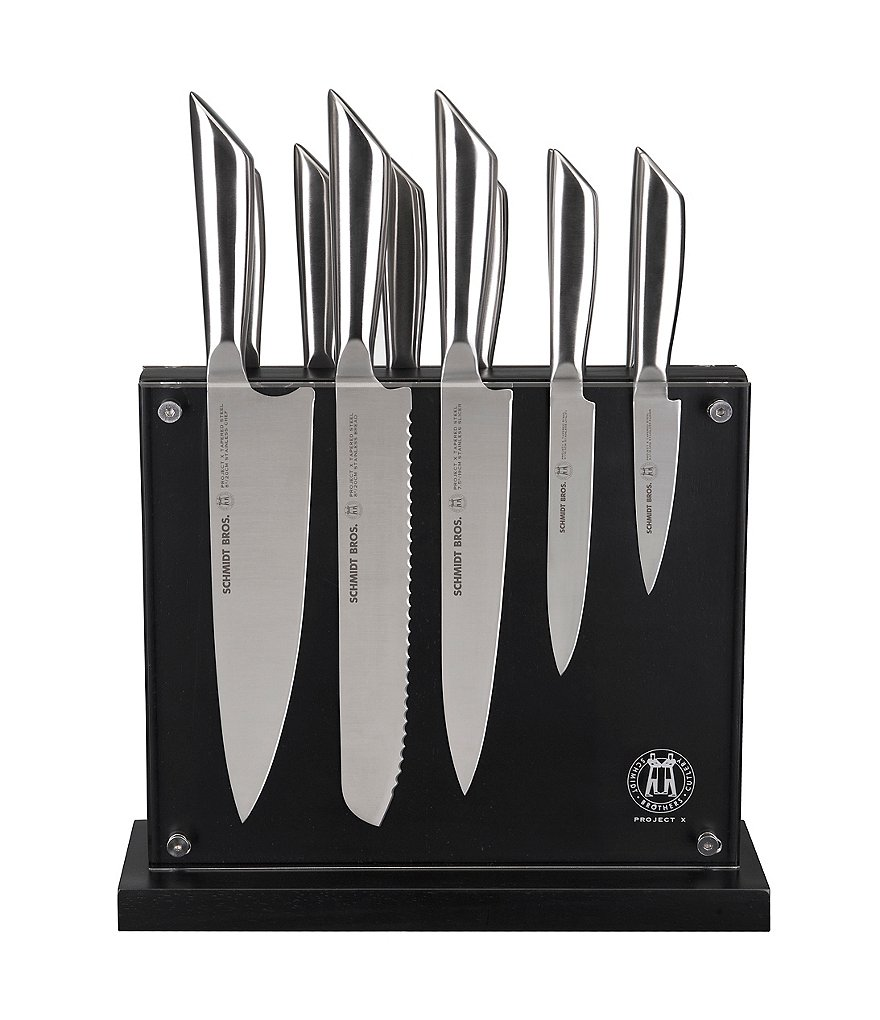 Schmidt Brothers Cutlery Steel 12-Piece Knife Set with Block
