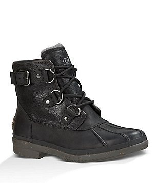 UGG® Cecile Cold-Weather Waterproof Lace Up Leather Duck Booties