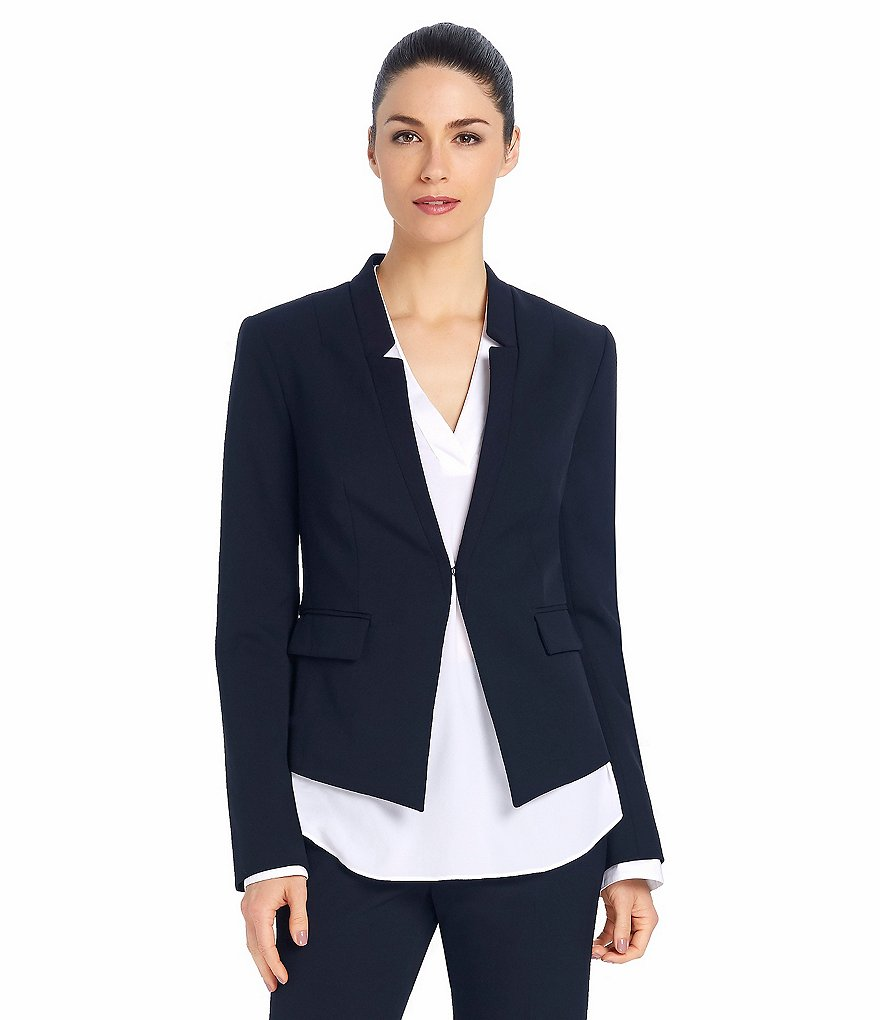 Ellen Tracy Seasonless Stretch Notched Collar Jacket