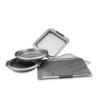 Anolon Advanced Nonstick 5-Piece Bakeware Set with Silicone Grips