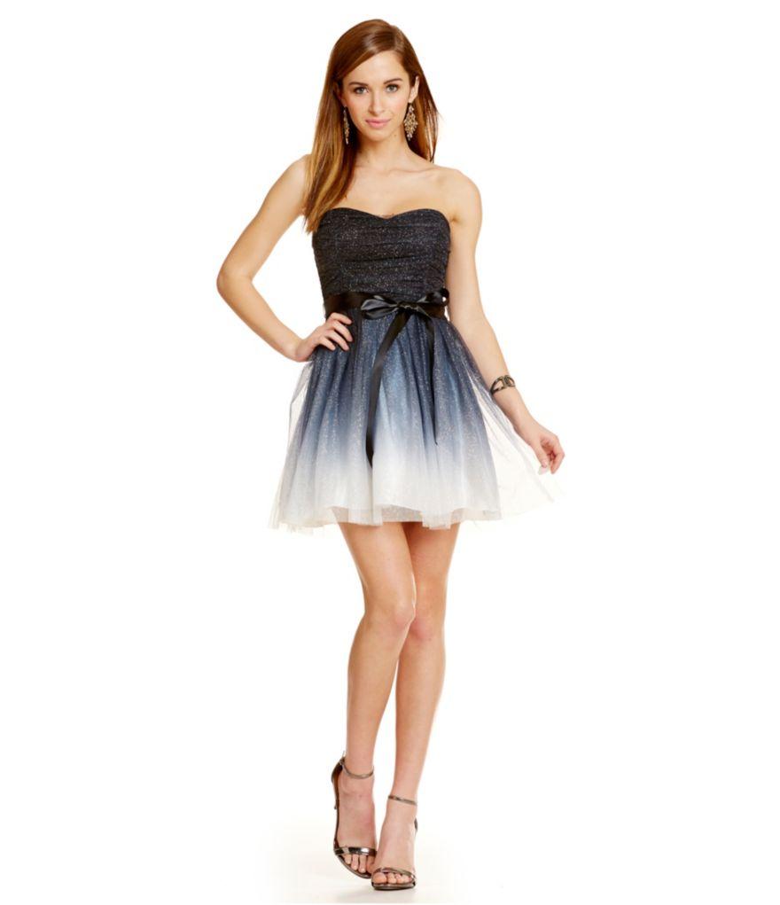 Strapless Full Skirt Dress