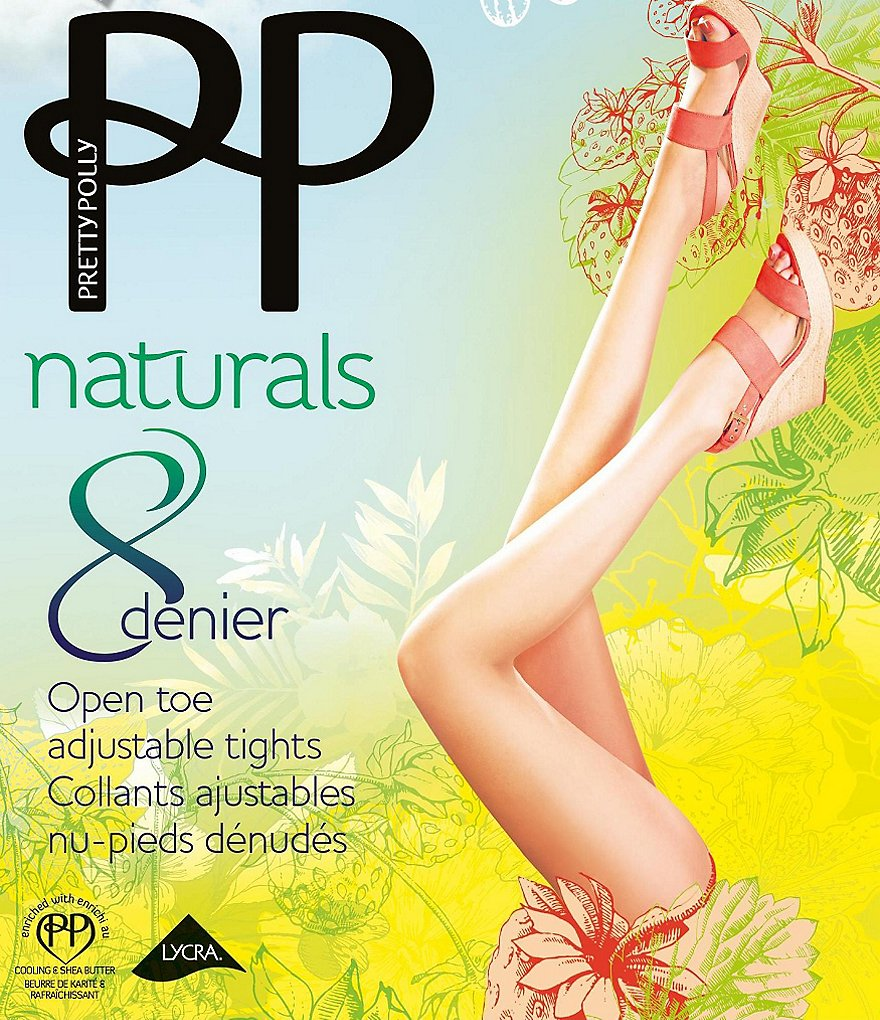 Pretty Polly Flexi-Fit Open Toe Adjustable Tights