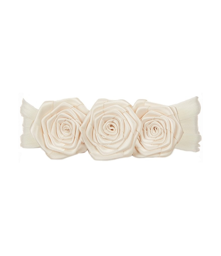 Starting Out Triple Satin Rose Headband