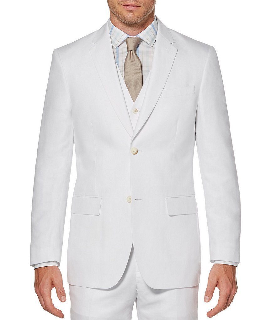 Perry Ellis Solid Linen Jacket