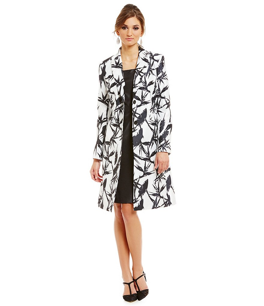 John Meyer 2-Piece Shantung Jacket Dress