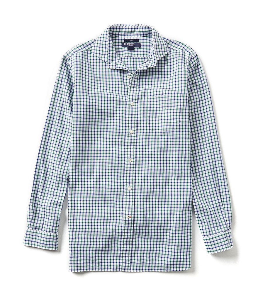 Cremieux Long-Sleeve Slim-FIt Check Woven Shirt