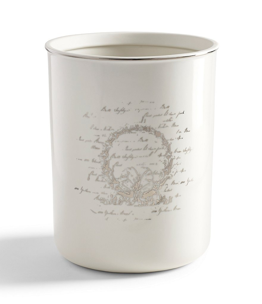 Southern Living Scroll Wastebasket