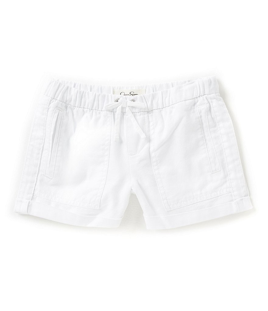 Jessica Simpson Big Girls 7-16 Jade Washed Oxford Shorts
