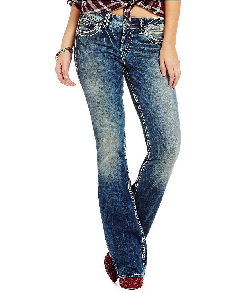 Silver Jeans Co. Suki Mid-Rise Super Stretch Denim Bootcut Jeans
