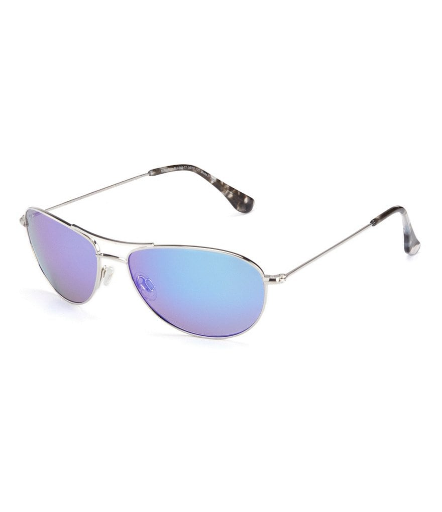Maui Jim Baby Beach Polarized Mirrored Aviator Sunglasses