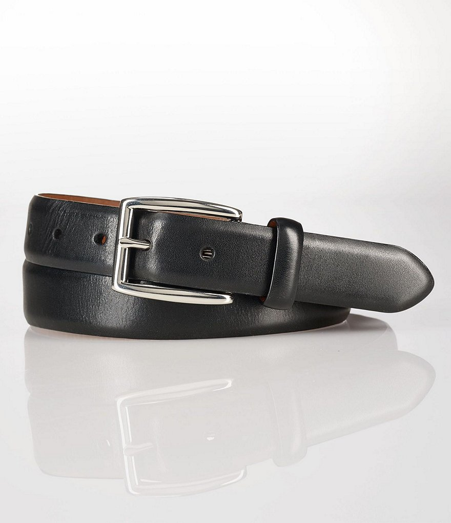 Polo Ralph Lauren Leather & Nickle Dress Belt