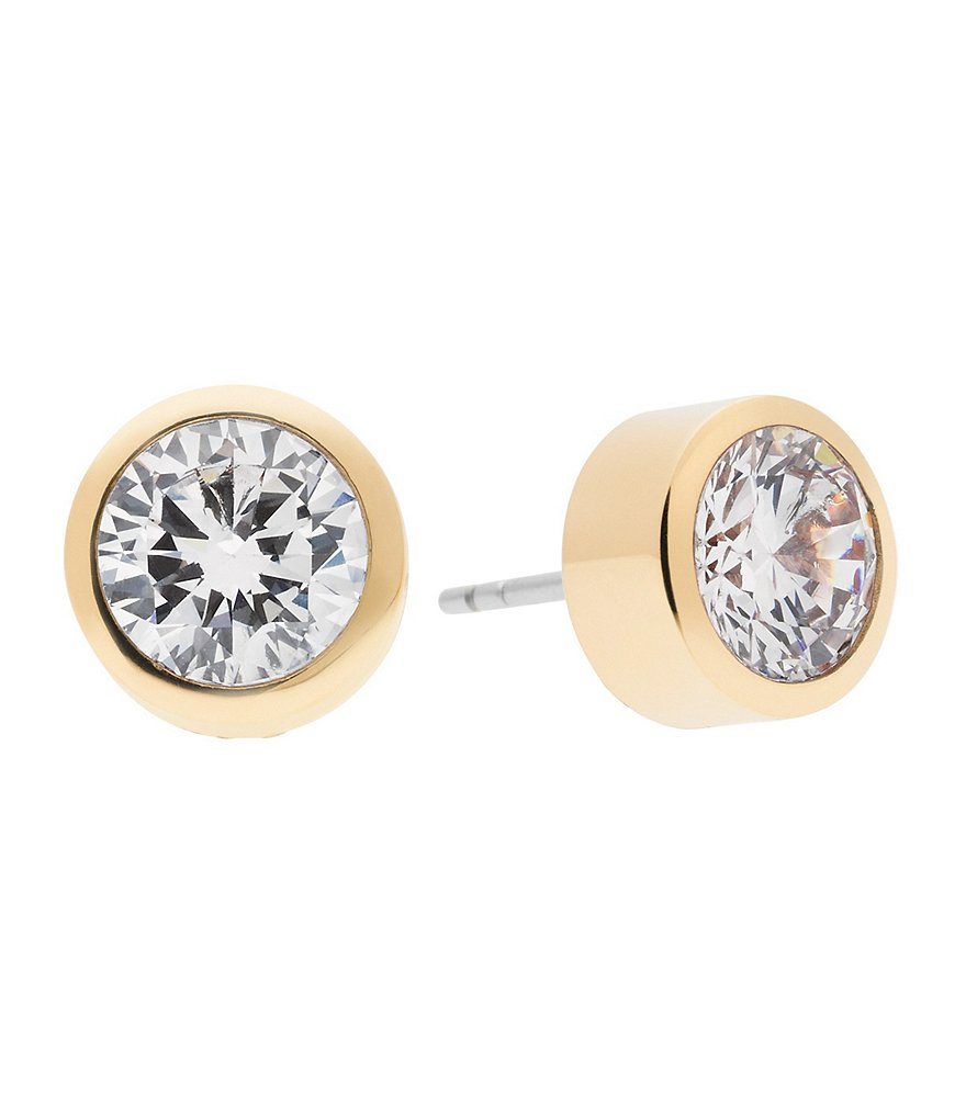 michael kors cubic zirconia stud earrings dillards. Black Bedroom Furniture Sets. Home Design Ideas