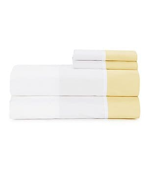 kate spade new york Grace Ribbon-Trimmed Colorblocked Cotton Sheet Set
