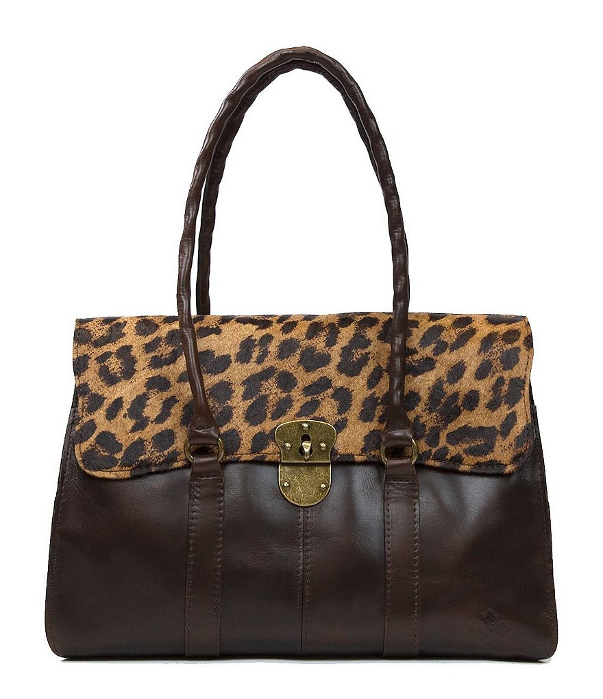 Patricia Nash Vienna Leopard Haircalf Satchel