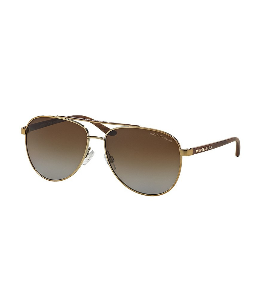 Michael Kors Hvar Slim Chic Aviator Polarized Sunglasses
