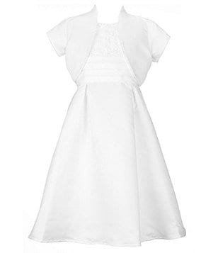 Jayne Copeland Big Girls 7-16 Soutache Bodice Communion Dress & Cardigan
