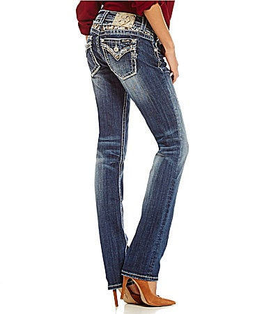 Miss Me Sequin Straight Jeans