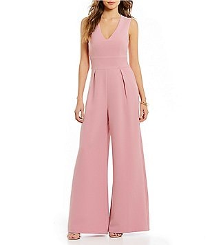 Sugarlips Sleeveless V-Neck Flare-Leg Jumpsuit