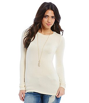 Sugarlips Long-Sleeve Crew-Neck Top
